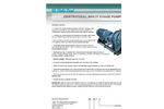 Turbosan - Model KAT Series - Medium and High Pressure Centrifugal Multi Stage Pumps - Brochure