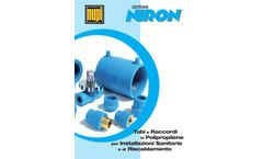 Niron - Model PP-R - Pipes and Fittings - Brochure