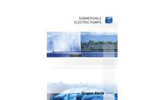 Submersible Electric Pumps - Brochure