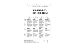 Salvatore - Model RC (RCB-RCL-RCM) - Centrifugal Pumps - Brochure