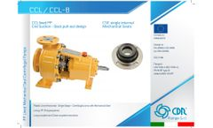 CDR - Model CCL / CCL-B - Plastic Lined Horizontal - Single Stage - Centrifugal Pump - Datasheet