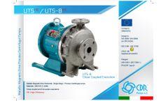 CDR - Model UTS/UTS-B - Metallic Magnetic Drive Horizontal - Single Stage - Process Centrifugal Pumps - Datasheet