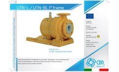 CDR - Model UTN-L / UTN-BL (I° Frame) - Plastic and Fluoroplastic Lined Magnetic Drive Horizontal Process Centrifugal Pumps - Datasheet