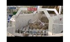 System for screening and sorting of demolition rubble Video