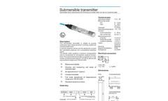 Model ETG 30 ATEX - Submersible Pressure Transmitter Brochure