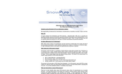 SnowPure - Ultraviolet Light for Water Disinfection Applications - Brochure
