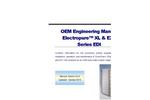 SnowPure Electropure - Model XL & EXL Series EDI - OEM Engineering - Manual