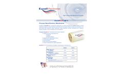 ExcellNano - Model SXN3-K & SXN3-L - Process Nanofiltration Membranes - Datasheet