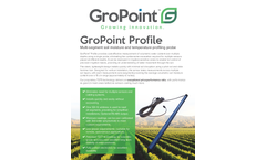 GroPoint Profile - Multi-Segment Soil Moisture and Temperature Profiling Probe - Datasheet