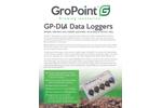 GroPoint - Model GP-DL4 - Automatic Recording of Sensor Data Loggers - Datasheet