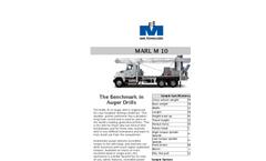 MARL - Model M 10 - Truck Mounted Auger Drills - Brochure