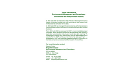 Environmental Data Management and Reporting