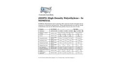 NOMINAL - High Density Polyethylene - Smooth Geomembrane Liners (HDPE) Brochure