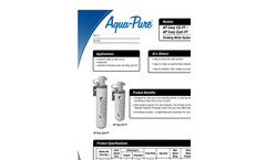 AP Easy Full Flow Drinking Water Systems Spec Sheet
