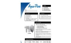 Aqua-Pure AP-RO5500 Reverse Osmosis Drinking Water System Datasheet