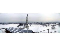 A GUTERMANN Zonescan Alpha unit overlooking winter landscape (Southern Germany)