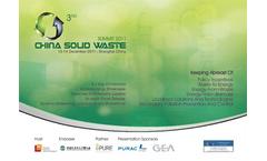 3rd China Soild Waste Summit 2011 Brochure