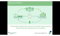 Corporate Renewable Energy Sourcing – The future of PPAs in Europe - Video