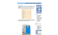 Model HC - Oil in Water / Polycyclic Aromatic Hydrocarbons Meter Brochure