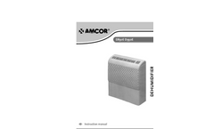 Amcor - D850E - Commercial Dehumidifier Manual