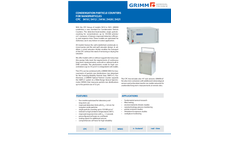 GRIMM - Models CPC 5410, 5412, 5416, 5420 and 5421 - Condensation Particle Counter (CPC) - Brochure