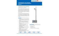 GRIMM - Model EDM180 - Environmental Dust Monitor for Approved PM Measuremnets (AMS) - Datasheet