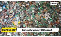 Sorting PCB with STEINERT sensor-based sorting technology - Video
