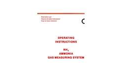Model 0-100ppm NH3 - Ammonia Gas Measuring System Manual