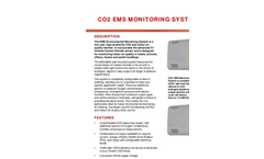 Carbon Dioxide CO2 EMS Environmental Monitoring System Datasheet
