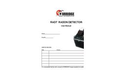 Model RAD7 - Electronic Radon Detector Manual
