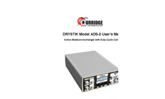 DRYSTIK - Model ADS-2 - Active Moisture Exchanger With Duty Cycle Controller User Manual
