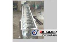 ZK Corp - Model WLS150-WLS500 - Horizontal Shaftless Screw Conveyor