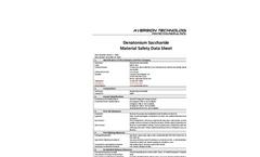 Denatonium Saccharide Material Safety Data Sheet