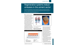 Regenerative systems reduce emissions in the cement sector
