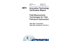 U.S. EPA Evaluation Report - Innovative Technology Verification Report for Measuring TPH in Soil.
