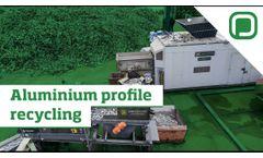 Aluminium profile recycling - Panizzolo Hammermill Flex Mobile - Video