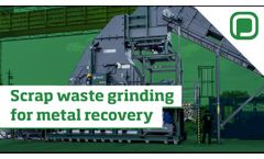Scrap waste grinding for metal recovery Panizzolo Mega 1500 - Video