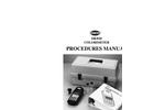 DR 820 Colorimeter Procedures Manual