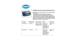 Hach - Model DR3900 - Laboratory Spectrophotometer for Water Analysis - Brochure