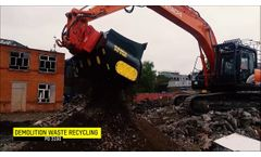 Demolition Waste Recycling with Remu PD3160 - Video
