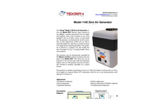 Tekran - Model 1100 - Zero Air Generator - Brochure
