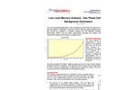 Low Level Mercury Analysis - Gas Phase Calibration Background Information - Brochure
