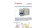 Tekran - Model 2700 - Automated Methyl Mercury Analysis System - Datasheet