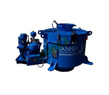 Lanner - Model DS - Centrifuge Drum with Patented Lifting Bottom Technology