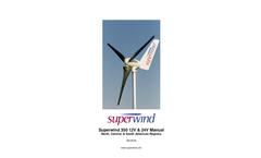 Superwind - Model 350 - Micro Wind Turbines  Manual