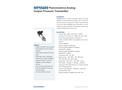 Model MPM489 - Piezoresistive Analog Output Pressure Transmitter