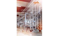 Lewa - Specific Metering Systems - Brochure