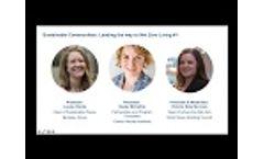 Webinar: Sustainable Communities: Leading the way to Net Zero Living #1 Video