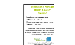 Registration for Supervisor and Manager H&S