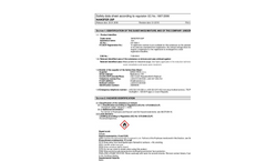 NANOFER - Model 25P - Primary nZVI Nanopowder for Secondary Stabilization - Safety Data Sheet